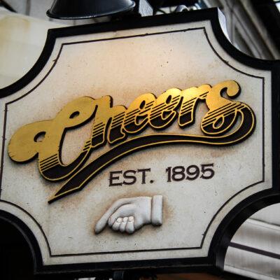 Cheers sign Boston bars