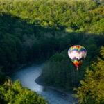 Hot air balloon, Letchworth State Park, New York.