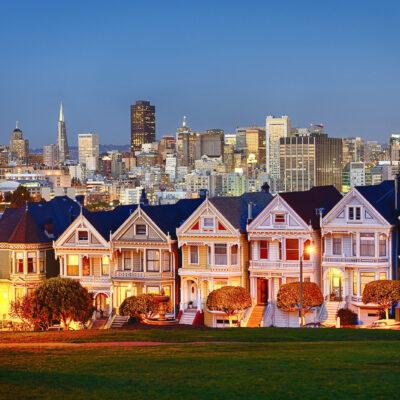 Painted Ladies San Francisco at night