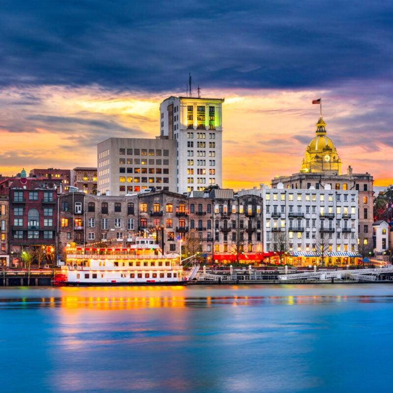 The Savannah, Georgia, skyline.