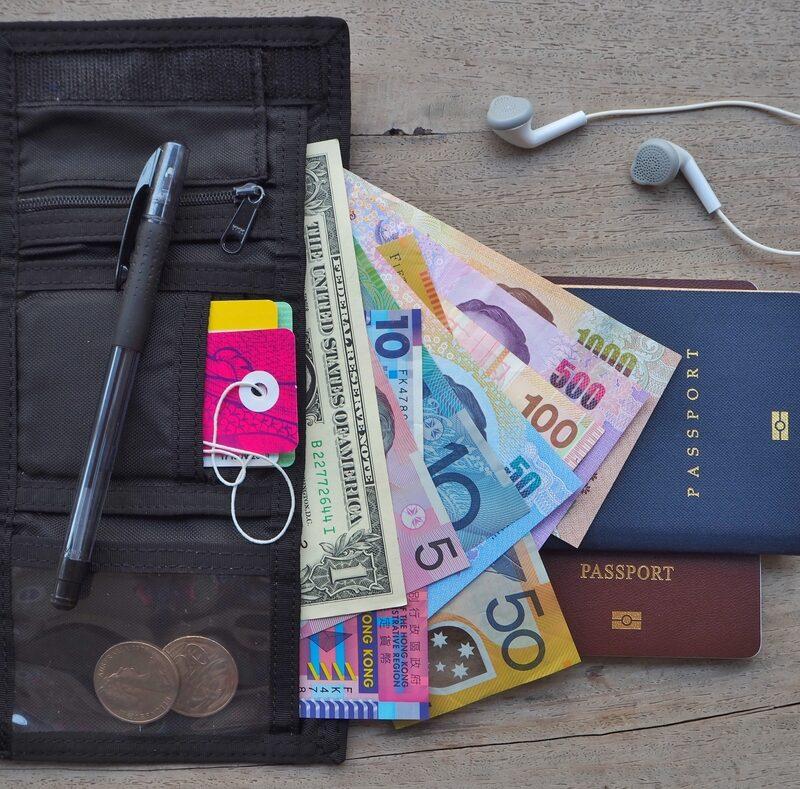 traveler wallet and passports
