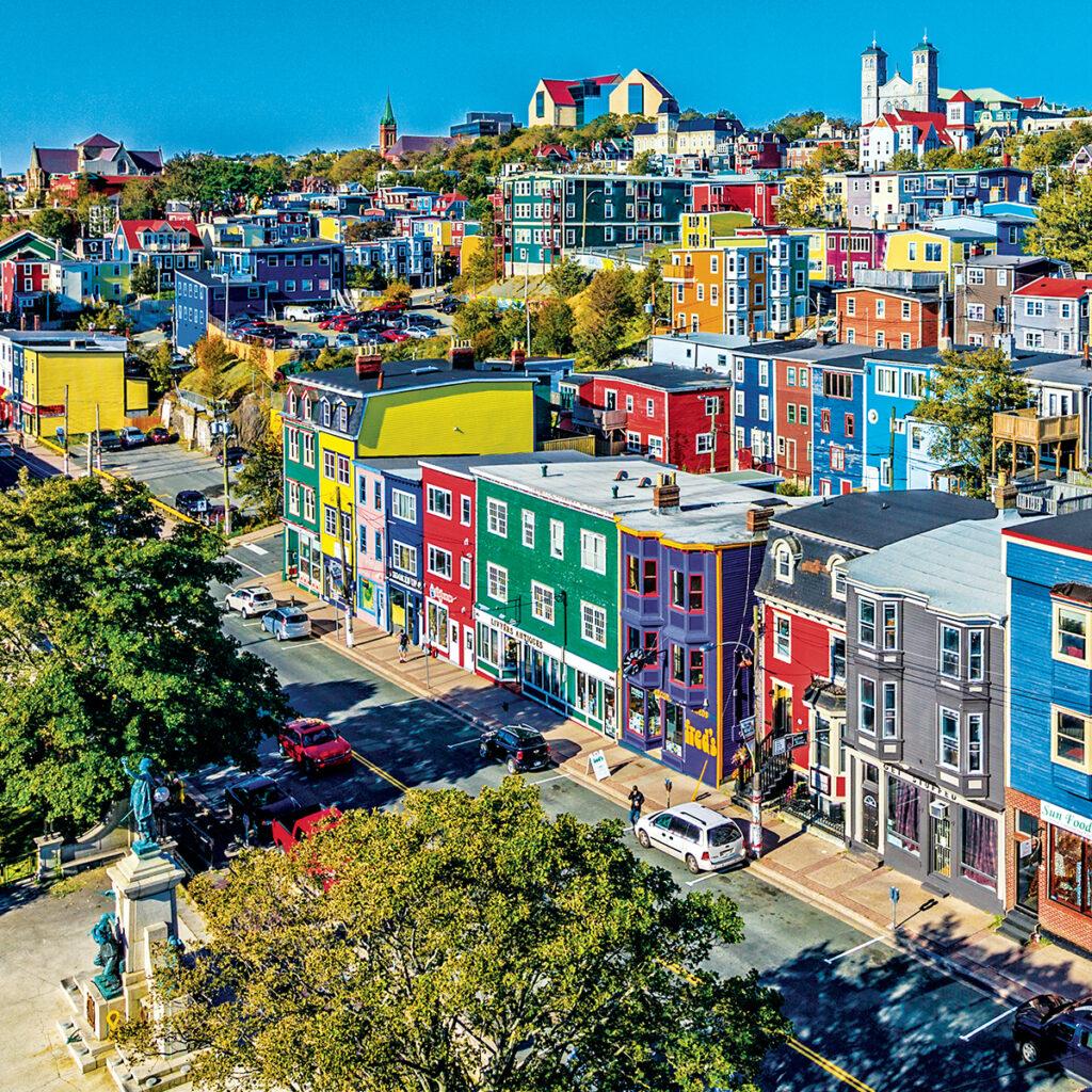Aerial view of St. John's, Newfoundland And Labrador, Canada.