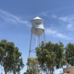 A water tower in Gilbert, AZ.