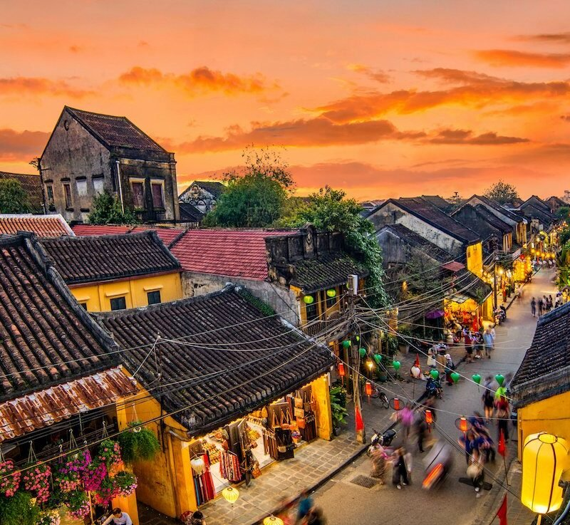 Vibrant and colorful Hoi An.