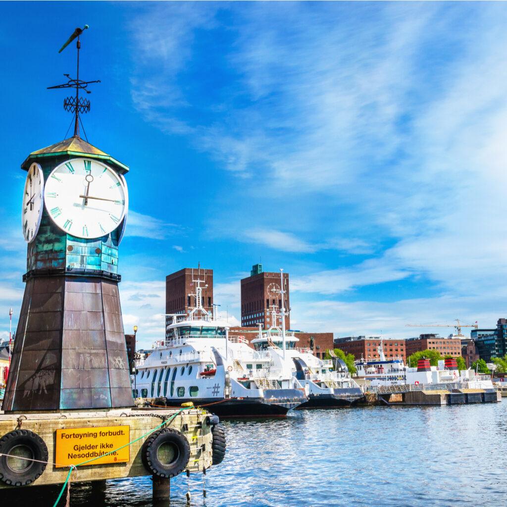 Aker Brygge Dock, Oslo, Norway.