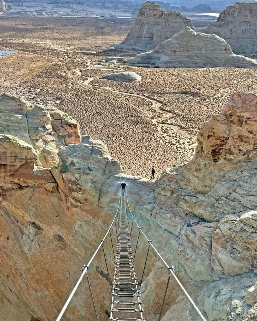 View from Cave Peak Stairway in Utah.