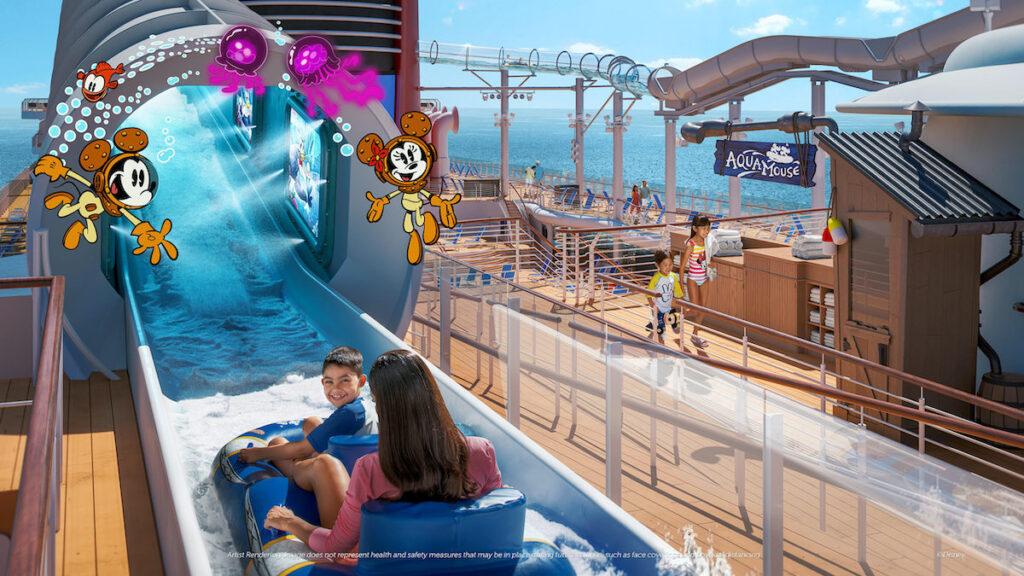A slide at Disney Wish.