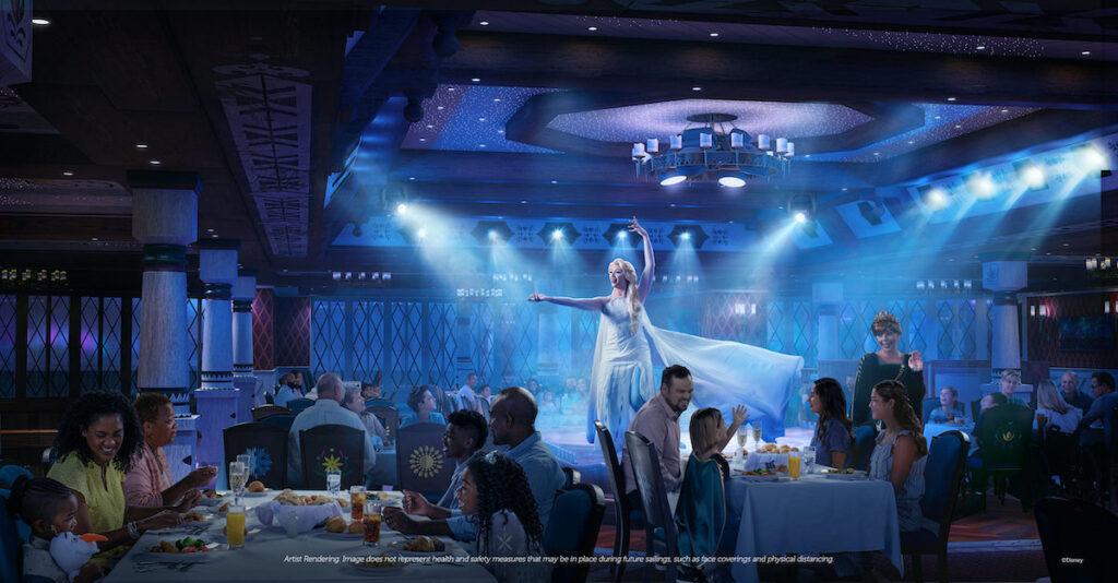 Elsa performing aboard Disney Wish.