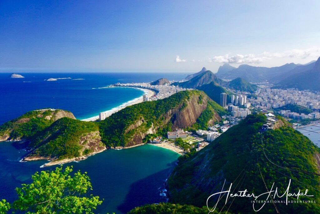 Aerial view in Rio de Janeiro.