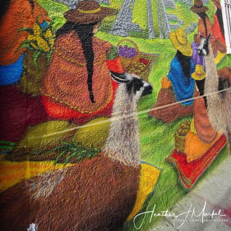 A mural in South America.