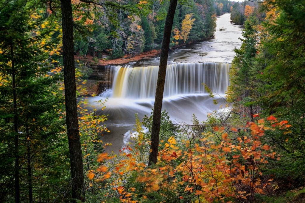 Tahquamenon Falls in Paradise, Michigan.