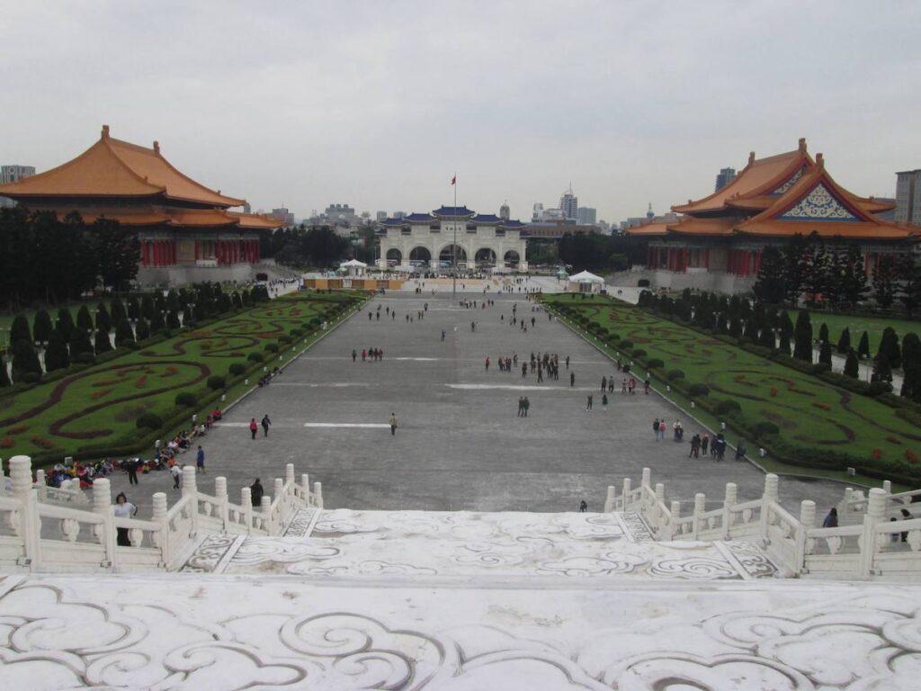 Chiang Kai-Shek Memorial in Taipei, Taiwan.