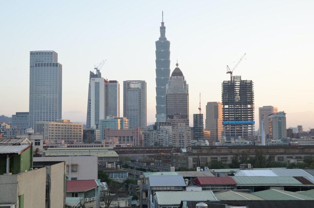 Taiwan skyline with Taipei 101 in view.