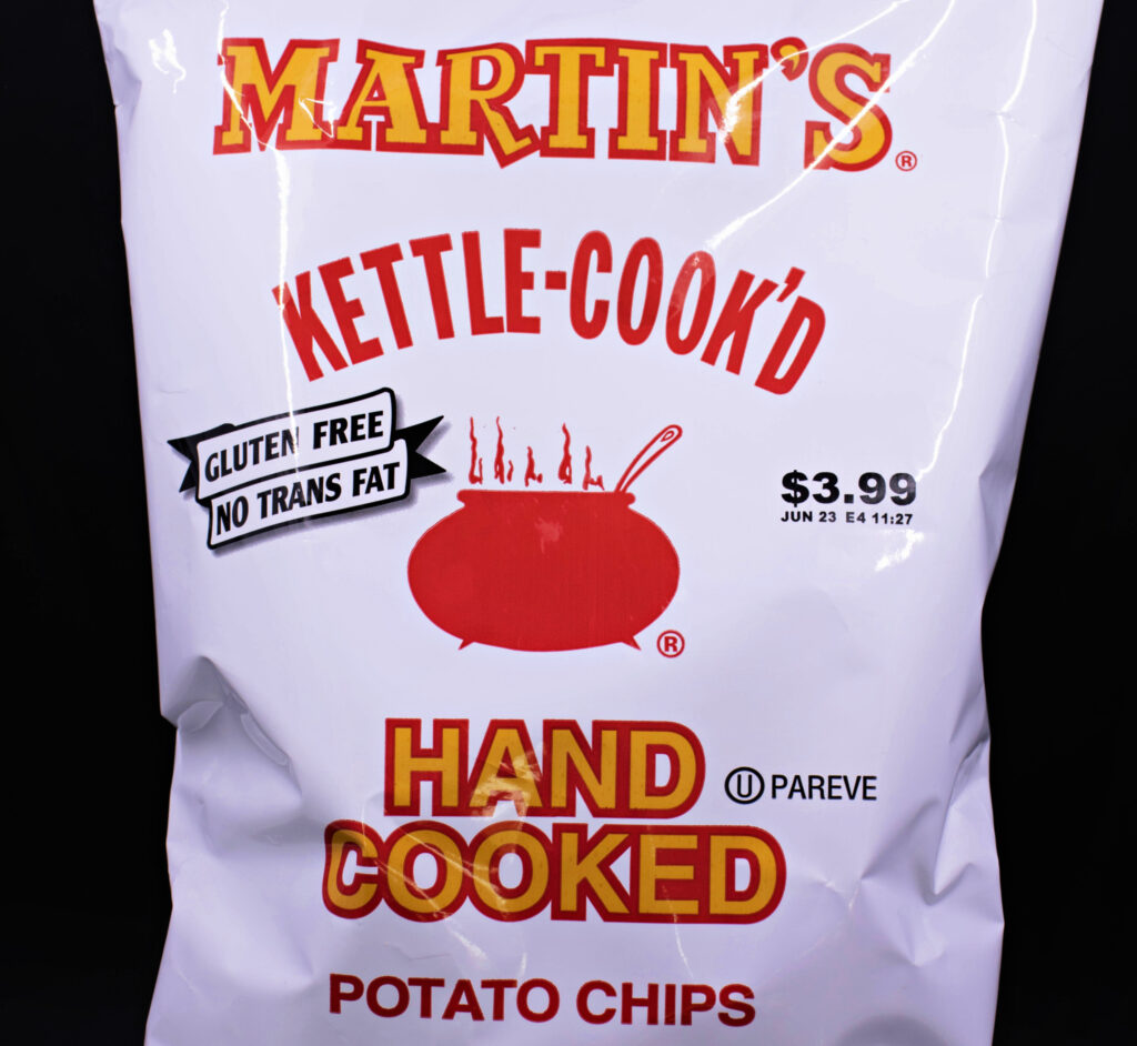 A bag of Martin's Potato Chips from Pennsylvania.