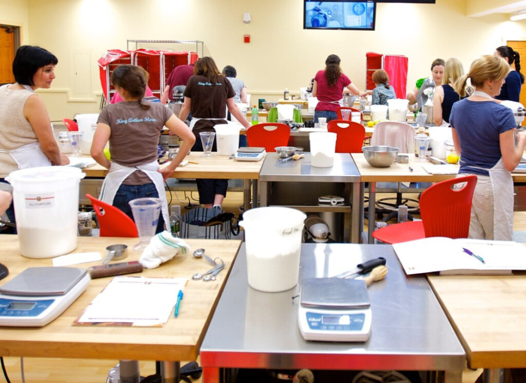 A baking class at King Arthur Flour's flagship store.