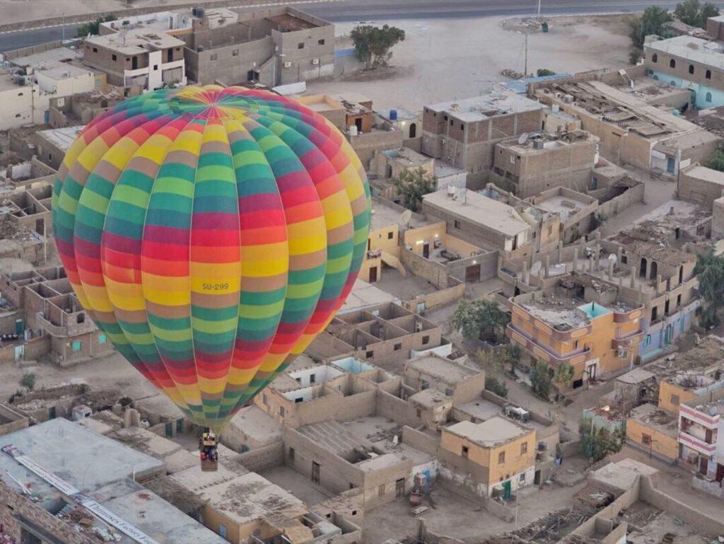 A balloon ride over Egypt.