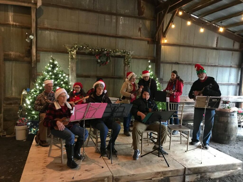 A barn concert during Romney's Winterfest for Christmas.