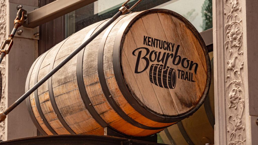 A barrel along the Kentucky Bourbon Trail.