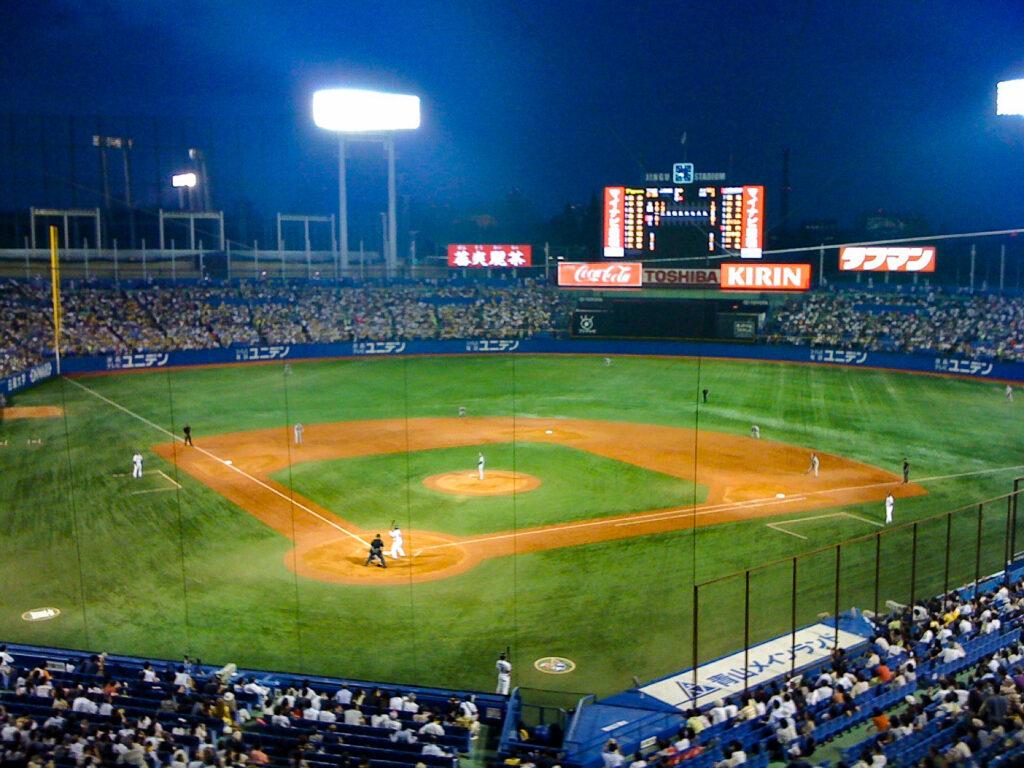 A baseball game in Tokyo, Japan