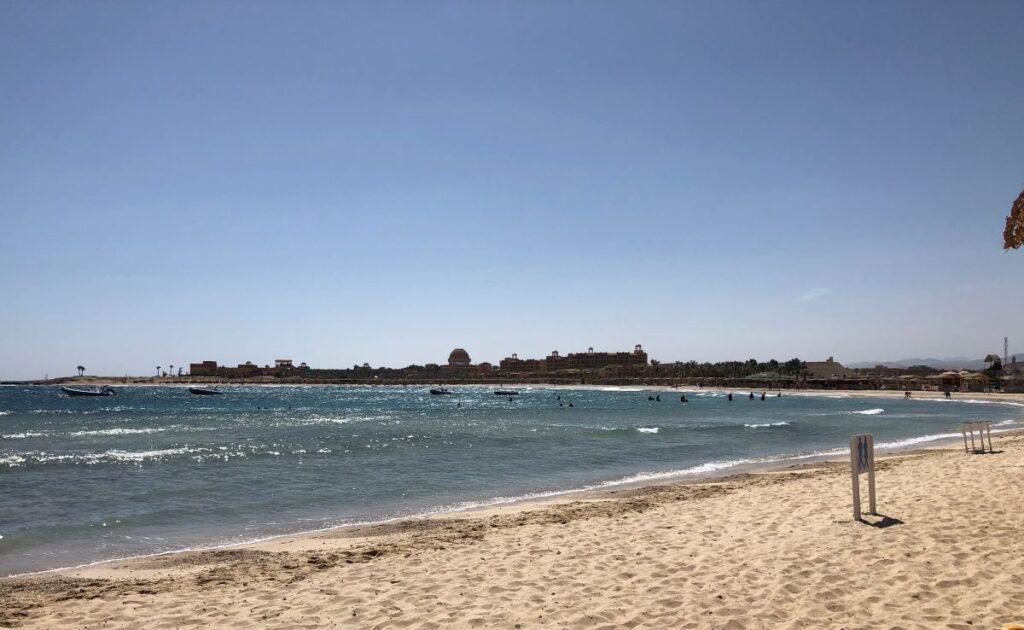 A beach along the Red Sea.