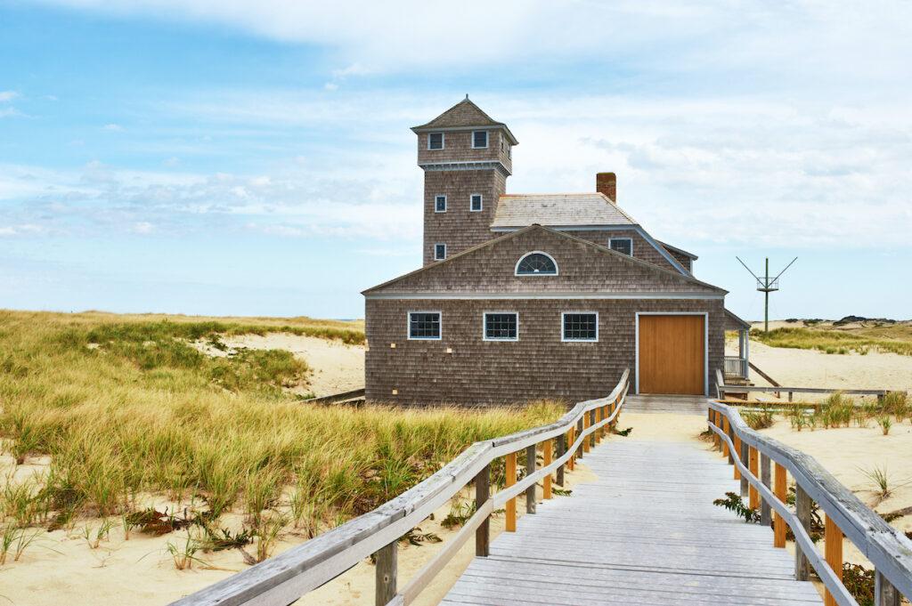 A beach house in Cape Cod, Massachusetts.