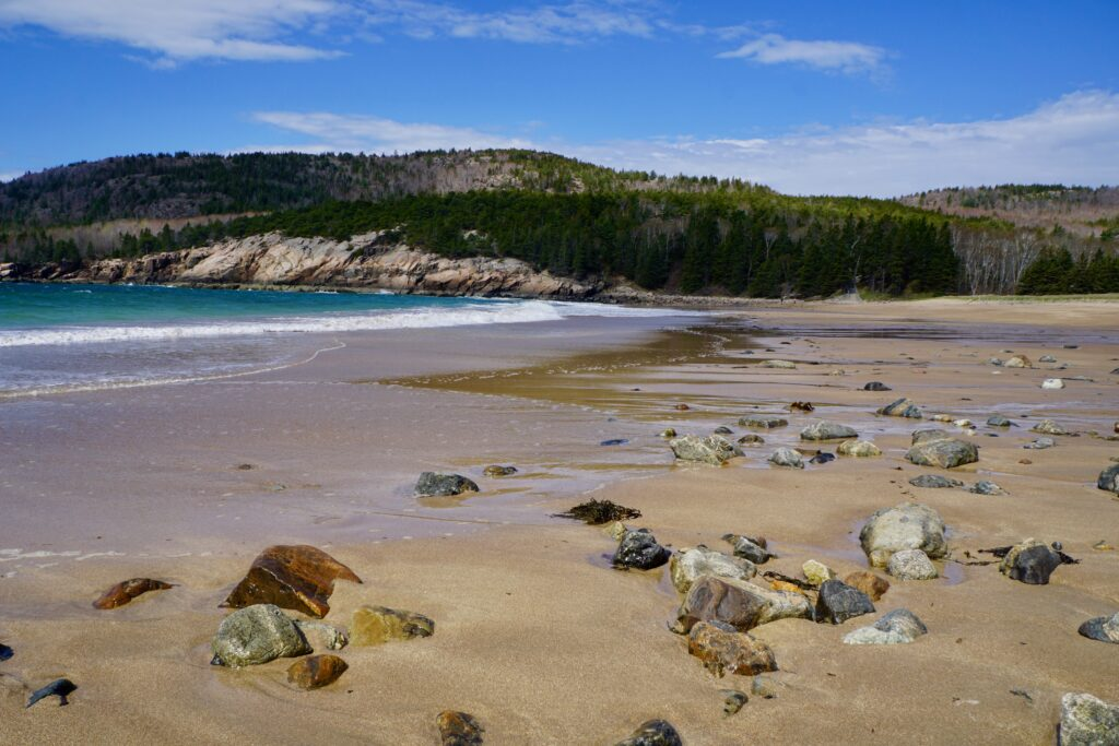 A beach in Acadia National Park.