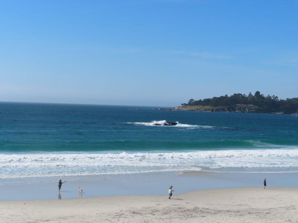 A beach in Carmel-by-the-Sea, California.