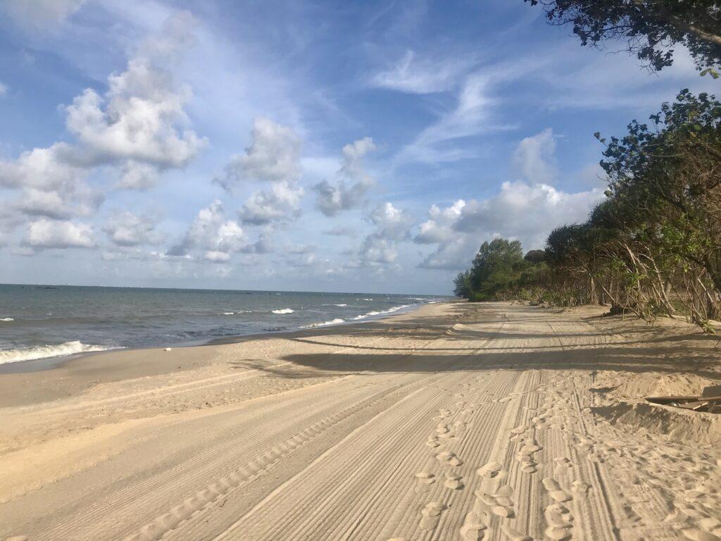 A beach in Desaru, Malaysia.
