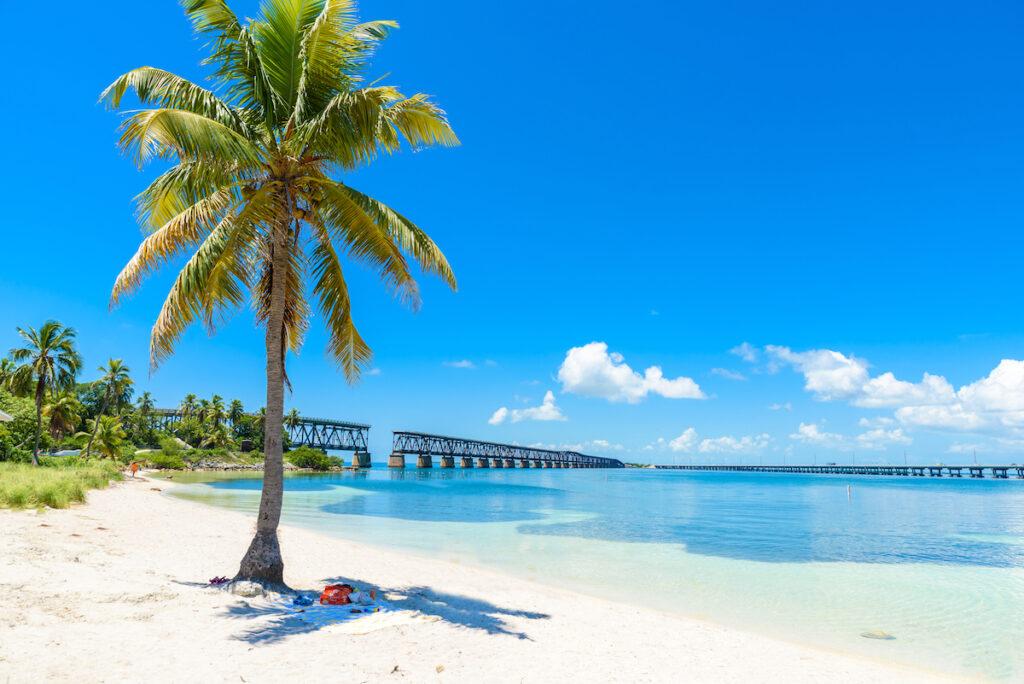 A beach in Florida's Bahia Honda State Park.