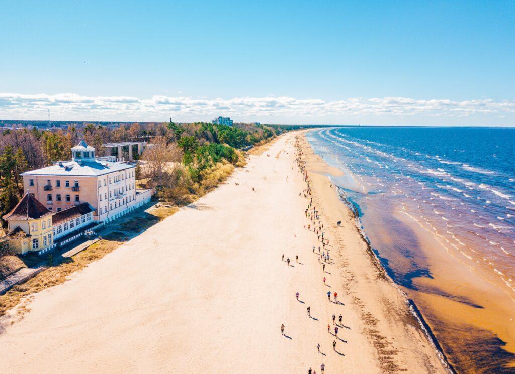A beach in Jurmala, Latvia.