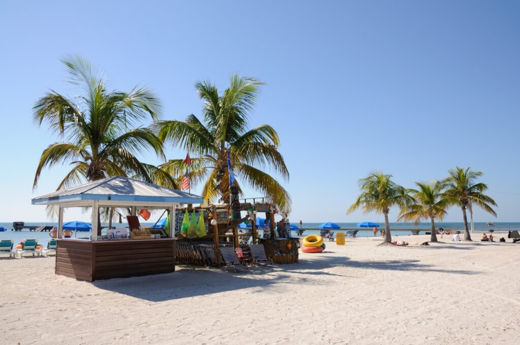 A beach in Key West during December.