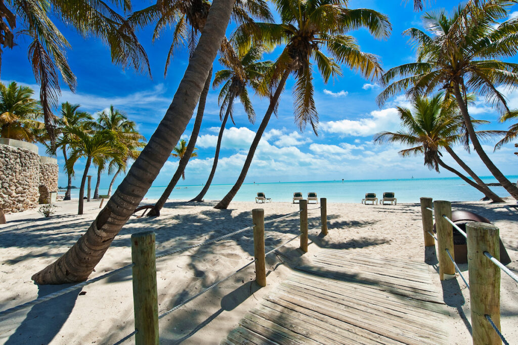 A beach in Key West, Florida.