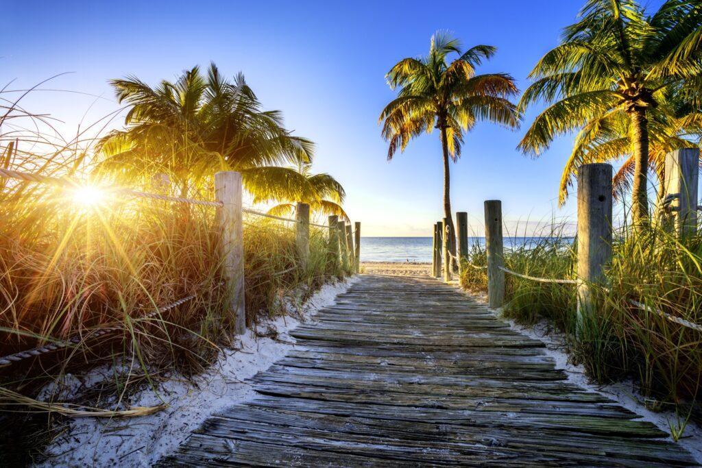 A beach in Key West.