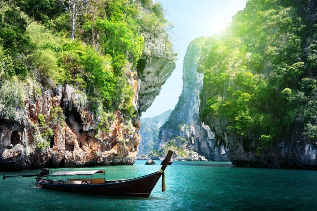 A beach in Krabi, Thailand.