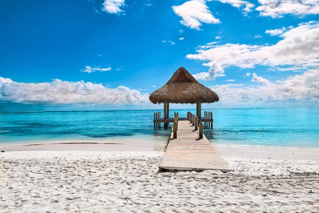 A beach in Punta Cana, Dominican Republic.
