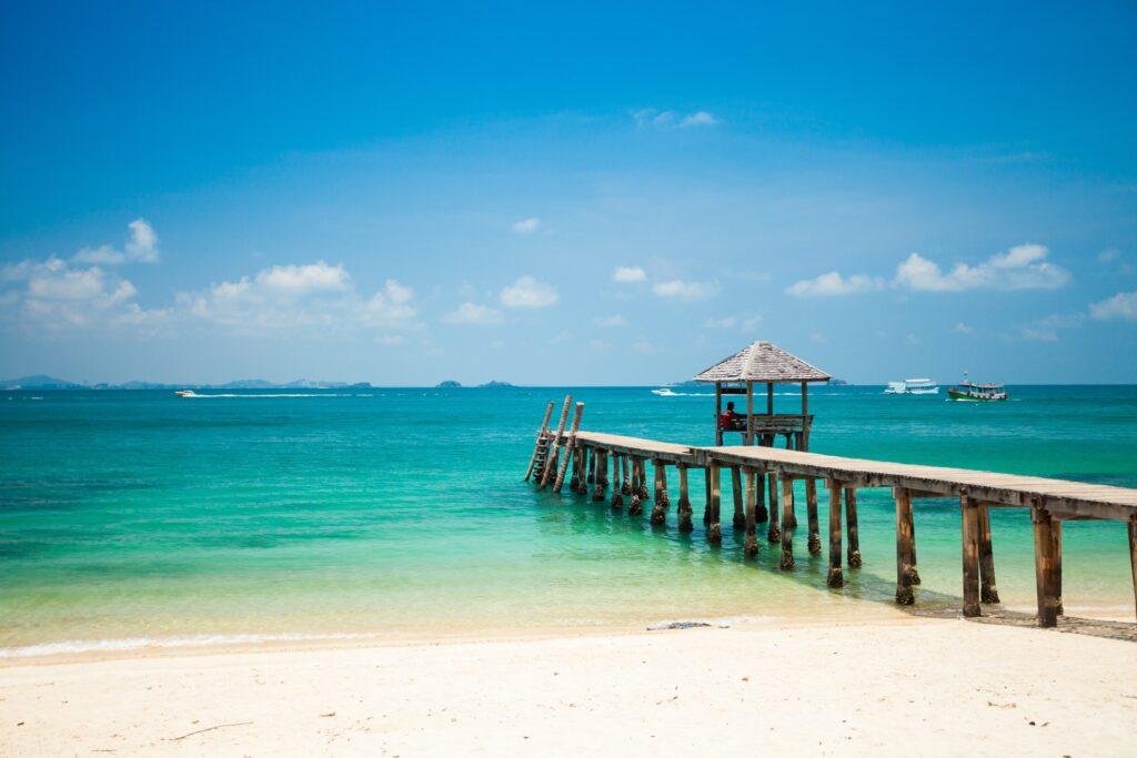 A beach in Rayong, Thailand.