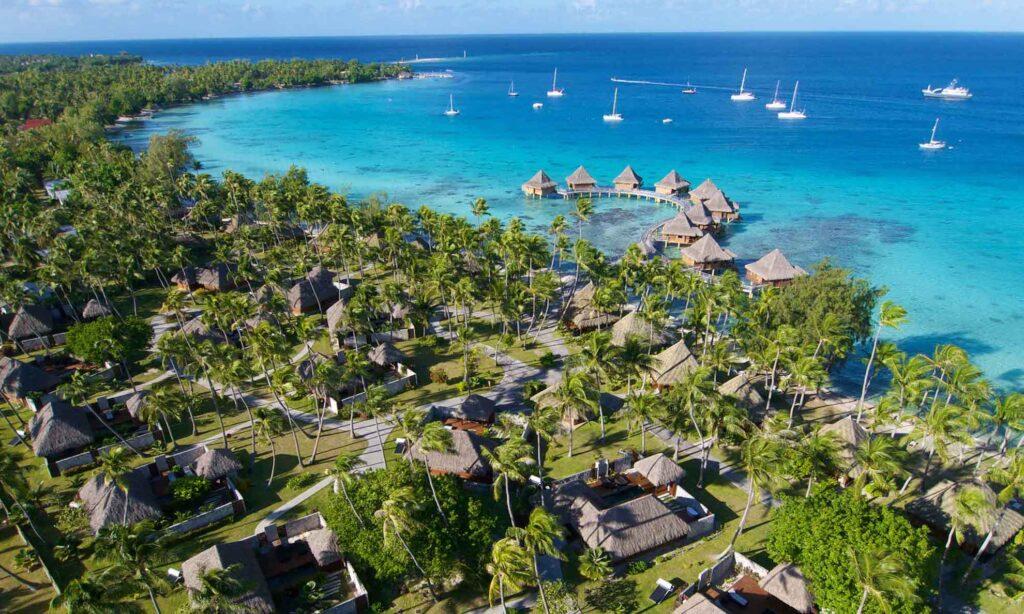 A beach in Tahiti.