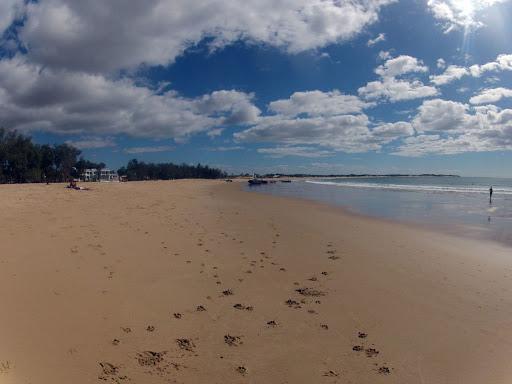 A beach in Tofo, Mozambique