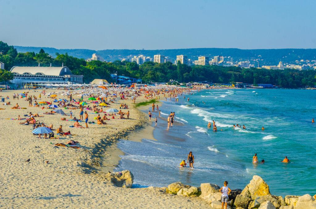 A beach in Varna, Bulgaria.