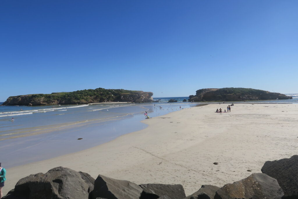 A beach in Warrnambool, Australia.