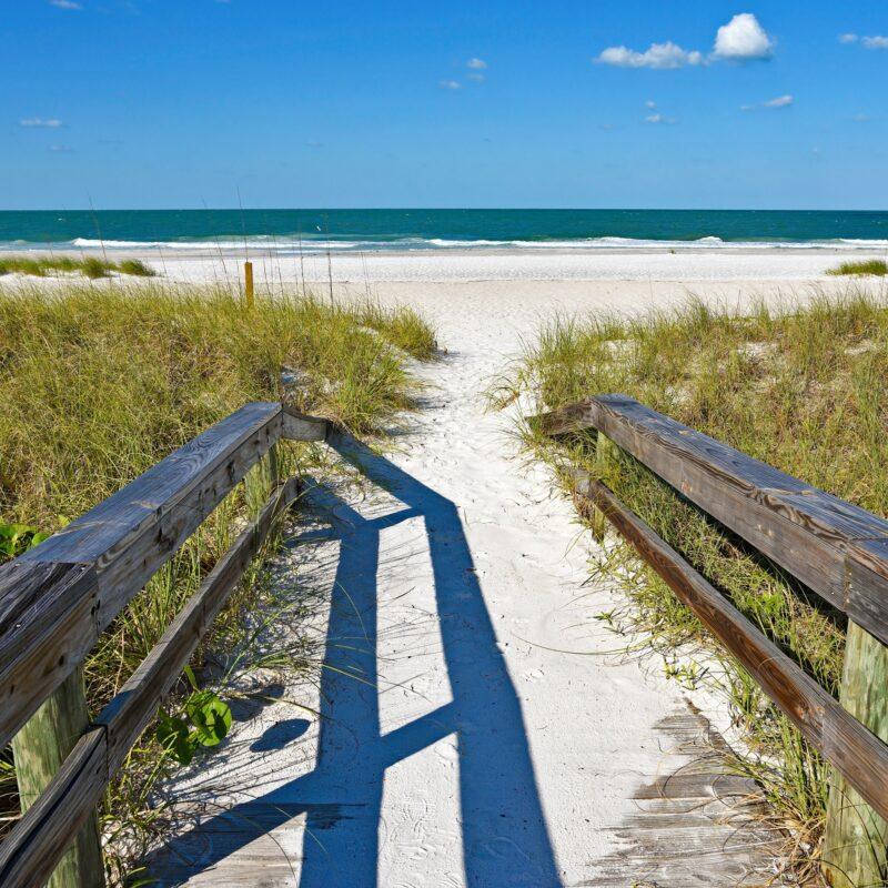 A beach on Anna Maria Island in Florida.