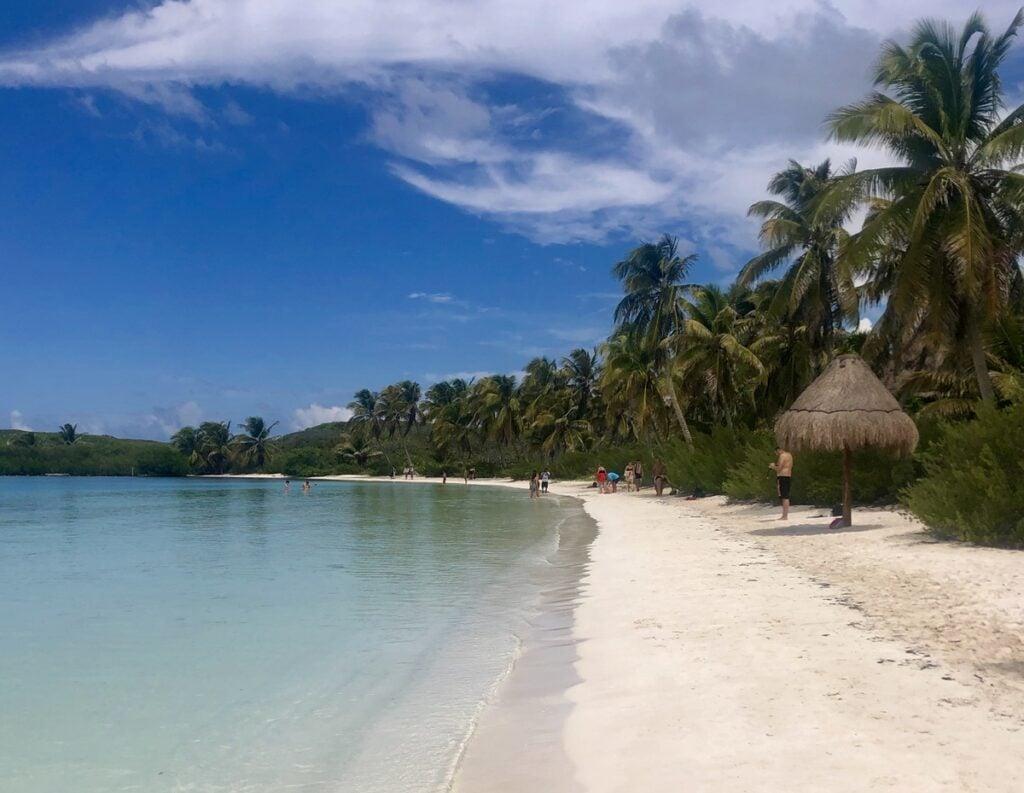A beach on Isla Contoy.