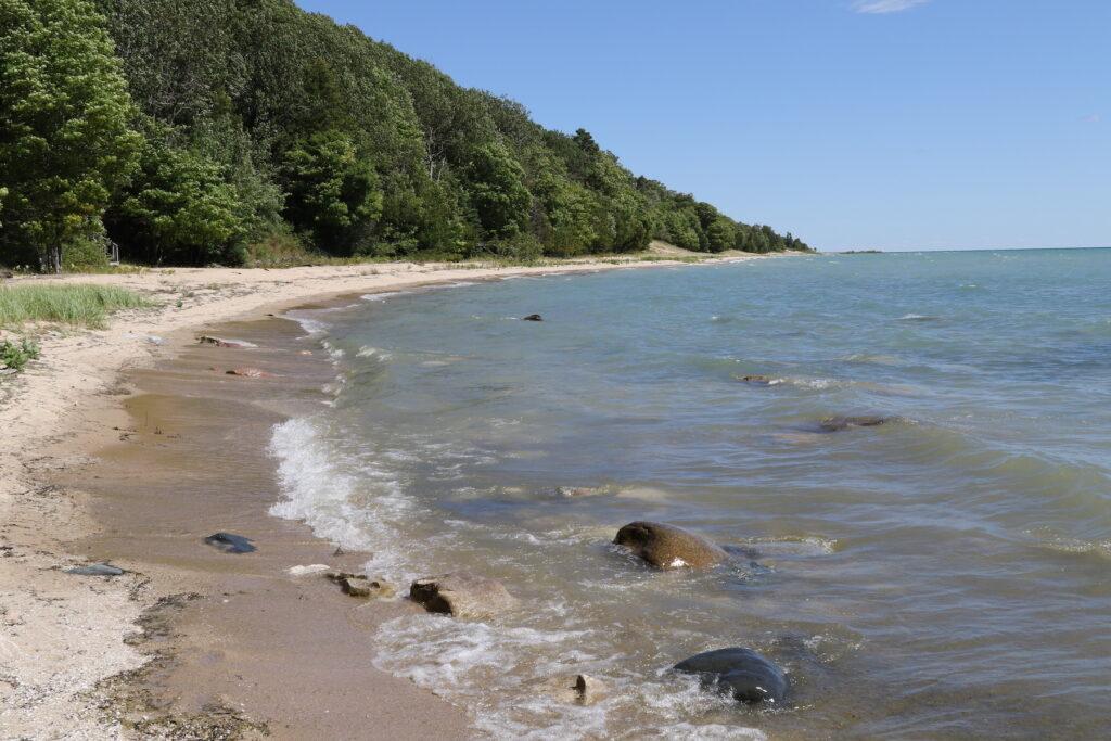 A beach on Michigan's Beaver Island.
