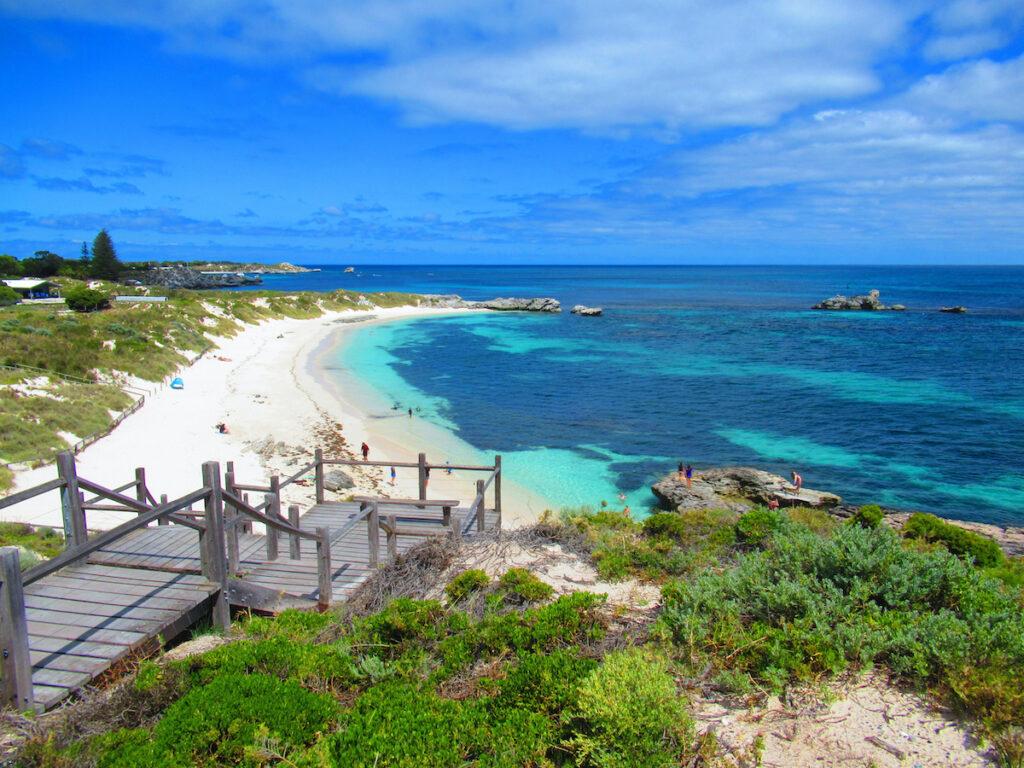 A beach on Rottnest Island in Australia.