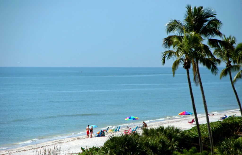 A beach on Sanibel Island, Florida.