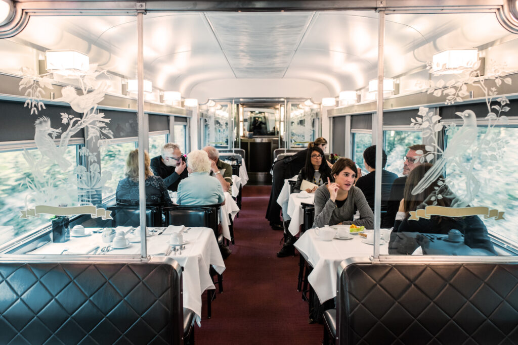A beautiful dining car in