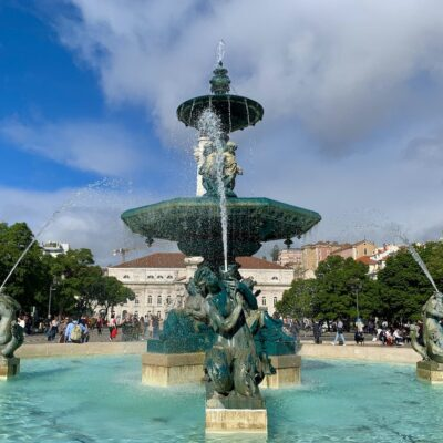 A beautiful fountain in Lisbon, Portugal.
