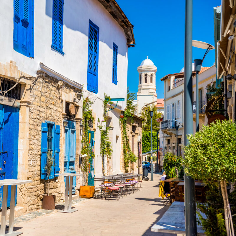 A beautiful residential street in Cyprus.