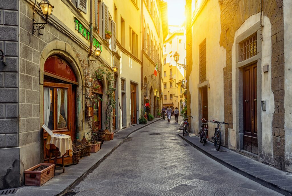 A beautiful street in Florence.