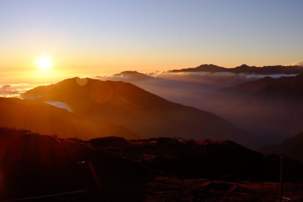 A beautiful sunset in Nepal.